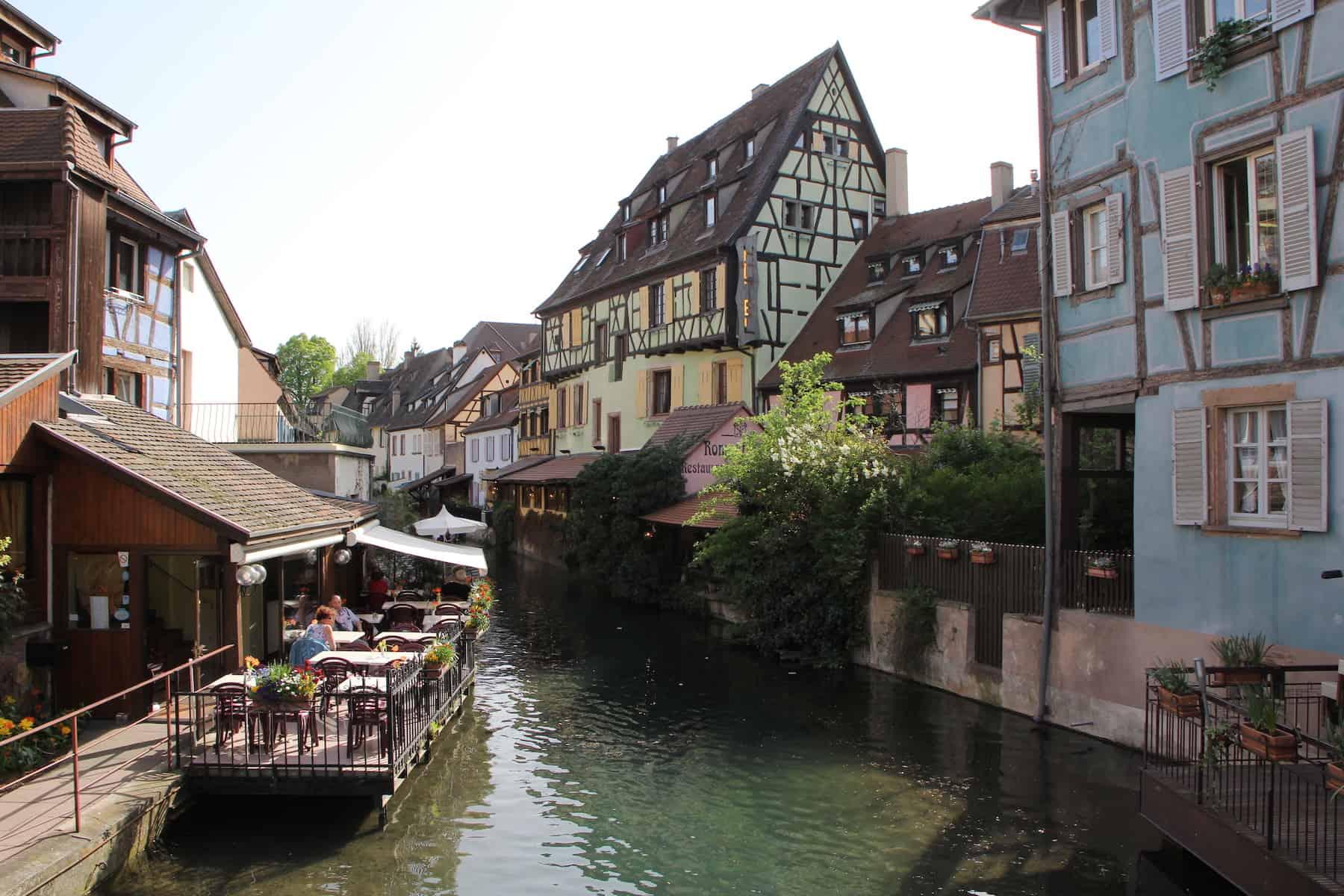 la petite Venise à Colmar en été