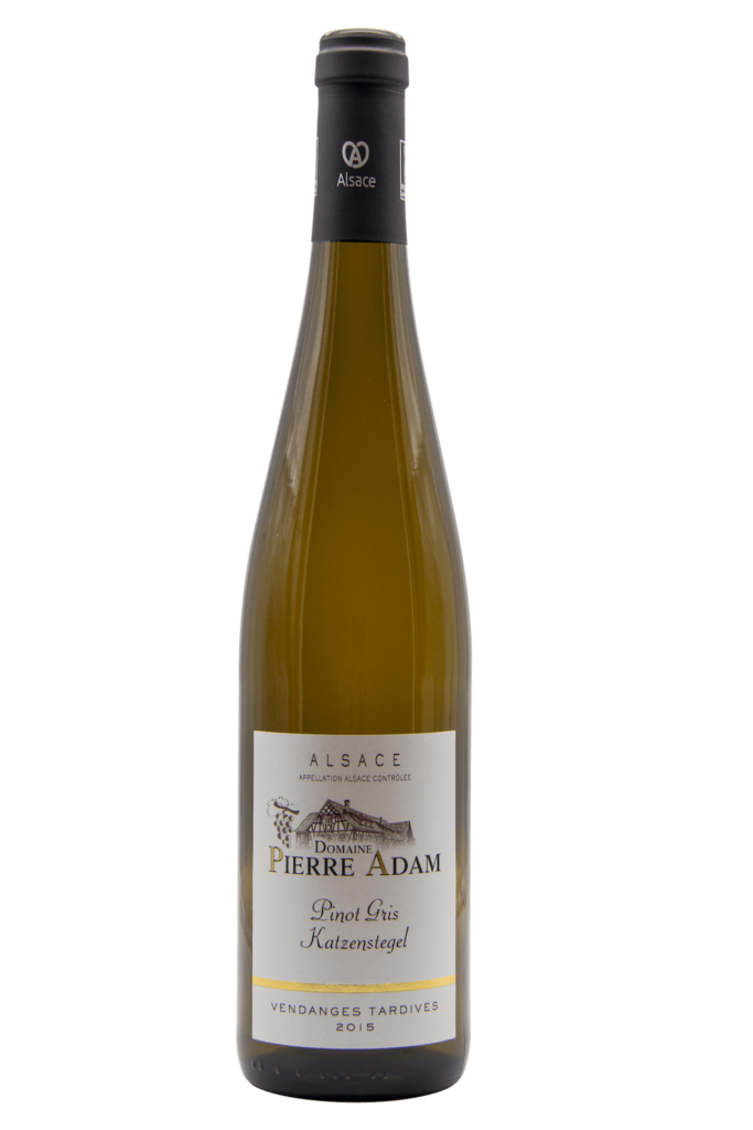 Bottle of Pinot Gris late harvest 75 cL