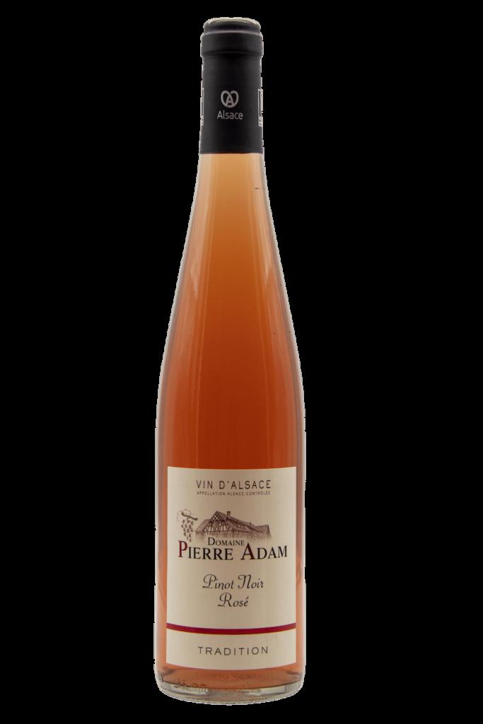 Bouteille de pinot noir rosé d'Alsace 75 cL