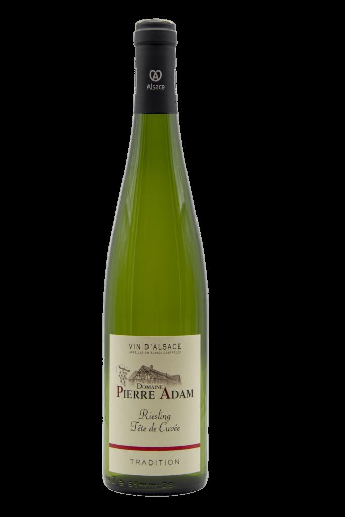 Bouteille de Riesling d'Alsace tradition 75 cL