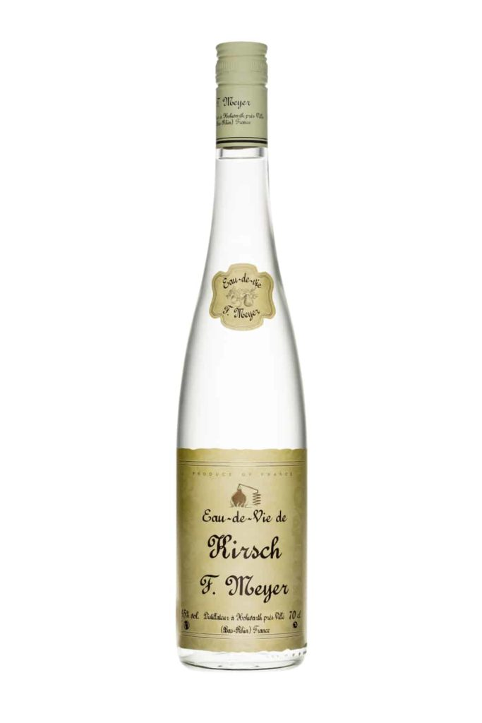 Kirsch brandy bottle