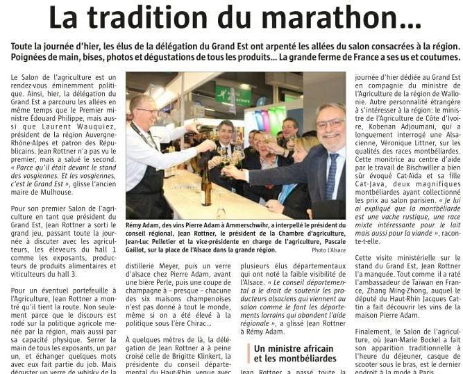 Article de presse dans le Journal Alsace