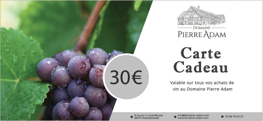 Visuel Carte Cadeau 30 Euros
