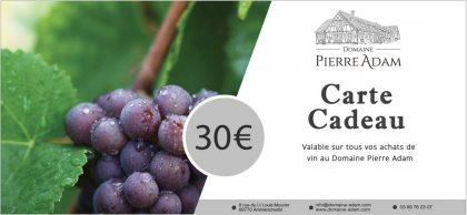 Carte cadeau de 30 euros